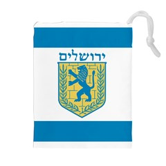 Flag Of Jerusalem Drawstring Pouches (extra Large) by abbeyz71