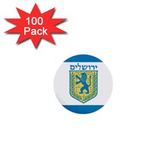 Flag Of Jerusalem 1  Mini Buttons (100 Pack)  by abbeyz71