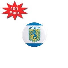 Flag Of Jerusalem 1  Mini Magnets (100 Pack)  by abbeyz71