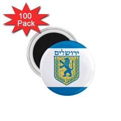 Flag Of Jerusalem 1 75  Magnets (100 Pack)  by abbeyz71