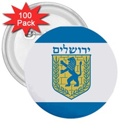Flag Of Jerusalem 3  Buttons (100 Pack)  by abbeyz71