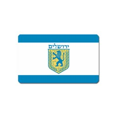 Flag Of Jerusalem Magnet (name Card) by abbeyz71
