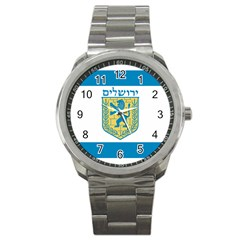 Flag Of Jerusalem Sport Metal Watch by abbeyz71