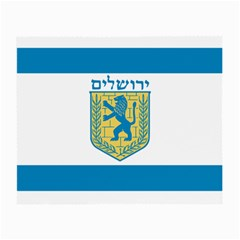 Flag Of Jerusalem Small Glasses Cloth (2-side) by abbeyz71