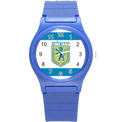 Flag Of Jerusalem Round Plastic Sport Watch (s) by abbeyz71
