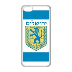 Flag Of Jerusalem Apple Iphone 5c Seamless Case (white) by abbeyz71