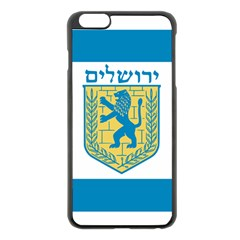 Flag Of Jerusalem Apple Iphone 6 Plus/6s Plus Black Enamel Case by abbeyz71