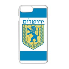 Flag Of Jerusalem Apple Iphone 7 Plus White Seamless Case by abbeyz71
