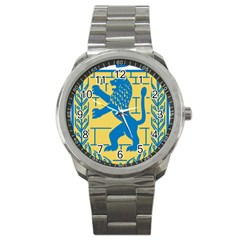 Coat Of Arms Of Jerusalem Sport Metal Watch by abbeyz71