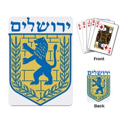 Coat Of Arms Of Jerusalem Playing Card by abbeyz71