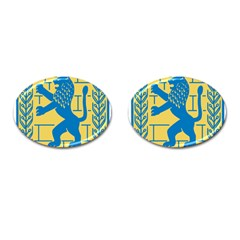 Coat Of Arms Of Jerusalem Cufflinks (oval) by abbeyz71