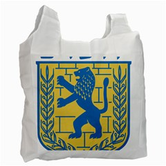 Coat Of Arms Of Jerusalem Recycle Bag (two Side)