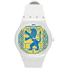 Coat Of Arms Of Jerusalem Round Plastic Sport Watch (m) by abbeyz71