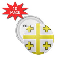 The Arms Of The Kingdom Of Jerusalem  1 75  Buttons (10 Pack) by abbeyz71