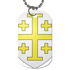 The Arms Of The Kingdom Of Jerusalem  Dog Tag (one Side) by abbeyz71