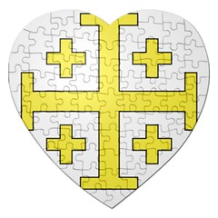 The Arms Of The Kingdom Of Jerusalem  Jigsaw Puzzle (heart) by abbeyz71