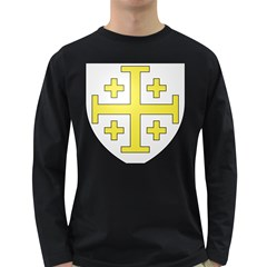 The Arms Of The Kingdom Of Jerusalem  Long Sleeve Dark T Shirts by abbeyz71