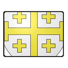 The Arms Of The Kingdom Of Jerusalem  Fleece Blanket (small) by abbeyz71