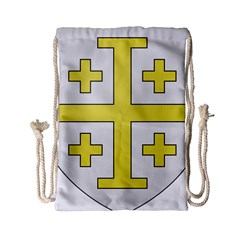 The Arms Of The Kingdom Of Jerusalem  Drawstring Bag (small) by abbeyz71