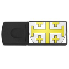 The Arms Of The Kingdom Of Jerusalem Usb Flash Drive Rectangular (4 Gb) by abbeyz71