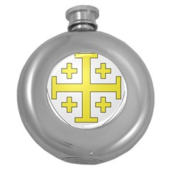 The Arms Of The Kingdom Of Jerusalem Round Hip Flask (5 Oz) by abbeyz71