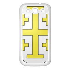 The Arms Of The Kingdom Of Jerusalem Samsung Galaxy S3 Back Case (white) by abbeyz71