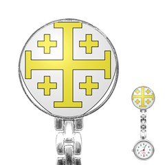 The Arms Of The Kingdom Of Jerusalem Stainless Steel Nurses Watch by abbeyz71