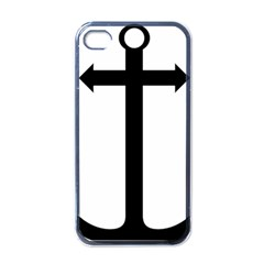 Anchored Cross  Apple Iphone 4 Case (black) by abbeyz71