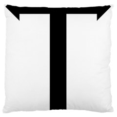 Anchored Cross  Large Flano Cushion Case (one Side) by abbeyz71