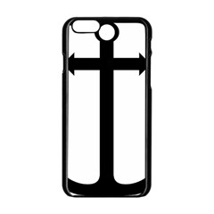 Anchored Cross  Apple Iphone 6/6s Black Enamel Case by abbeyz71