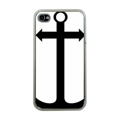 Anchored Cross Apple Iphone 4 Case (clear) by abbeyz71