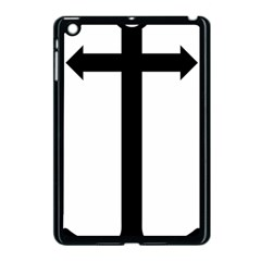 Anchored Cross Apple Ipad Mini Case (black) by abbeyz71