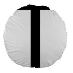 Anchored Cross Large 18  Premium Flano Round Cushions by abbeyz71
