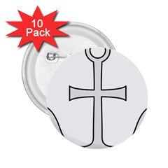 Anchored Cross  2 25  Buttons (10 Pack)  by abbeyz71
