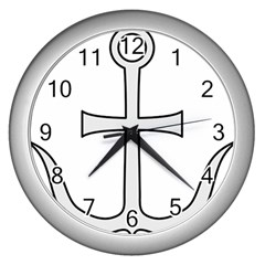 Anchored Cross  Wall Clocks (silver)  by abbeyz71