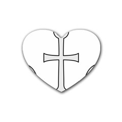 Anchored Cross  Heart Coaster (4 Pack)  by abbeyz71