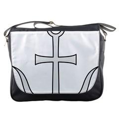 Anchored Cross  Messenger Bags by abbeyz71