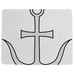 Anchored Cross  Jigsaw Puzzle Photo Stand (rectangular) by abbeyz71