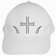 Anchored Cross White Cap by abbeyz71