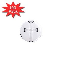 Anchored Cross 1  Mini Magnets (100 Pack)  by abbeyz71