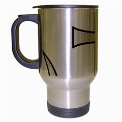 Anchored Cross Travel Mug (silver Gray) by abbeyz71