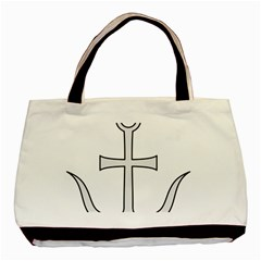 Anchored Cross Basic Tote Bag by abbeyz71