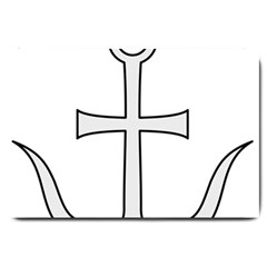Anchored Cross Large Doormat  by abbeyz71
