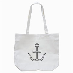 Anchored Cross Tote Bag (white) by abbeyz71