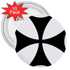 Bolnisi Cross 3  Buttons (10 Pack)  by abbeyz71