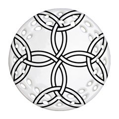 Carolingian Cross Ornament (round Filigree) by abbeyz71