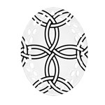 Carolingian cross Ornament (Oval Filigree) Front