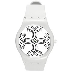 Carolingian Cross Round Plastic Sport Watch (m) by abbeyz71