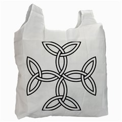Carolingian Cross Recycle Bag (one Side) by abbeyz71