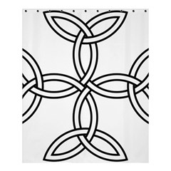 Carolingian Cross Shower Curtain 60  X 72  (medium)  by abbeyz71